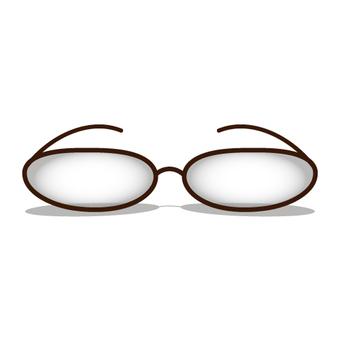 今天的眼鏡的簡單圖像