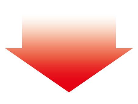 Red gradient down arrow