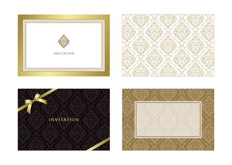 Label material Damask pattern (2) Gold