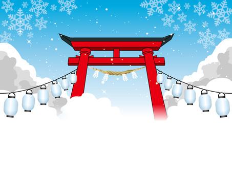 Four seasons of the shrine (7) Winter snowflake