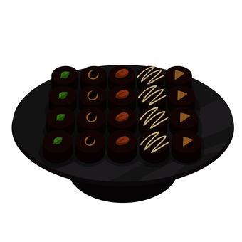 초콜릿 1 접시