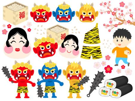Setsubun material set