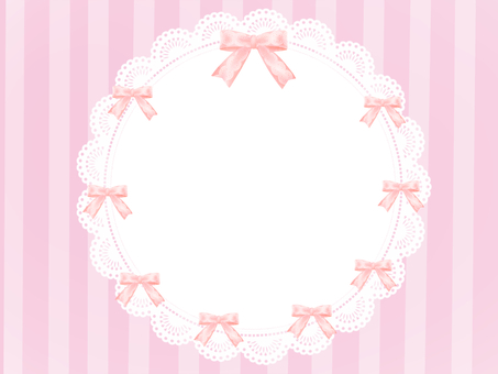 Fashionable ribbon frame pink