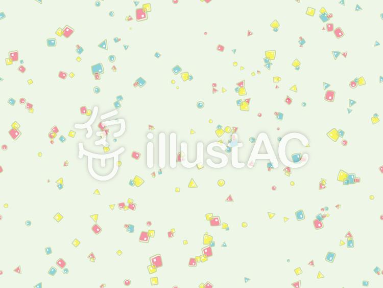 カラフルパターン-丸・三角・四角2gのイラスト