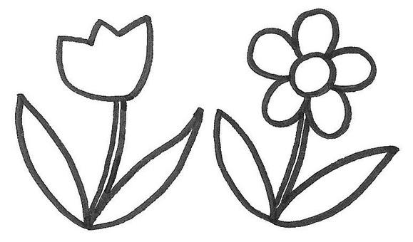 Flower two wheel flower