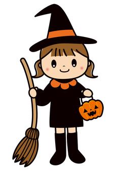 ハロウィン 仮装 子供 魔女