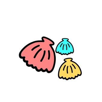 Colorful shellfish