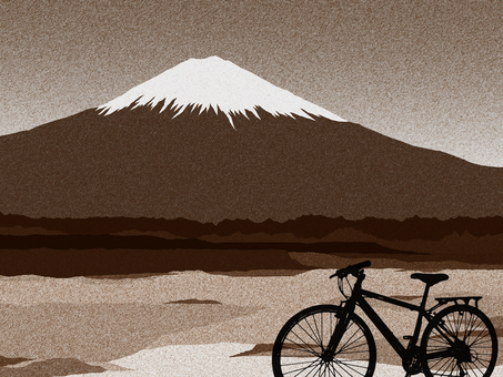 Mount Fuji and a bicycle