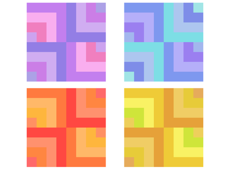 Color checkered pattern