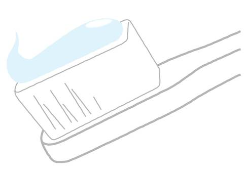 Toothbrush and toothpaste powder