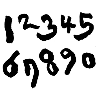Pen text 02 numbers