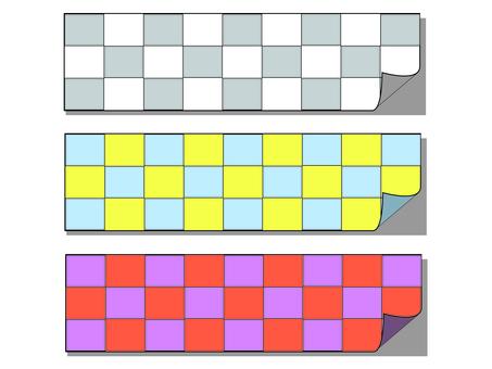 Checkered sticky note