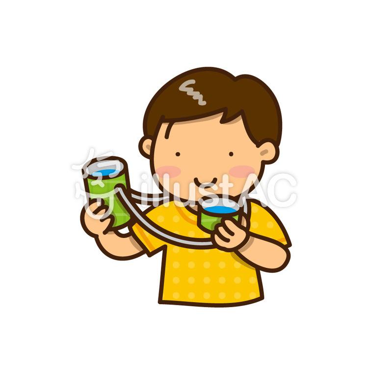 水筒の水を飲む男の子イラスト No 844906無料イラストなら