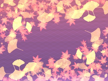 Japanese pattern background material autumn