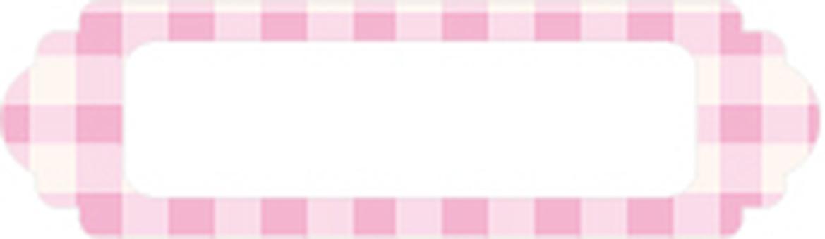 Check frame pink