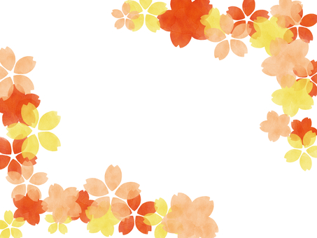 Watercolor frame Sakura