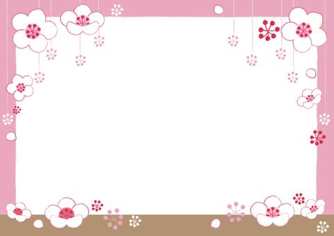 flower_ plum flower frame (white plum)