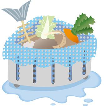 음식물 쓰레기 삼각 코너 일러스트