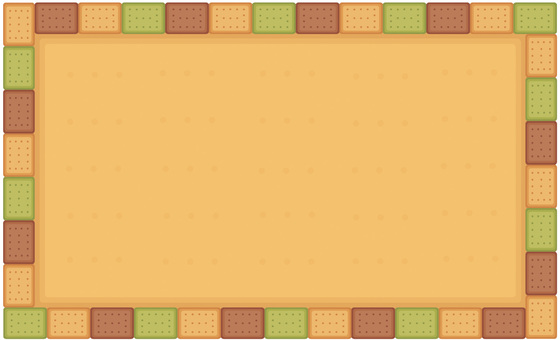 3-color biscuit frame: cocoa matcha