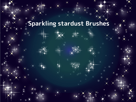 Brilliant sparkling star brush pattern set