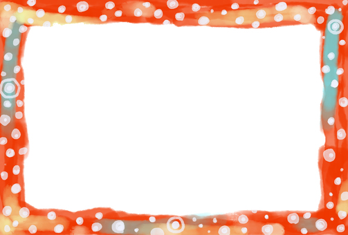 Frame hand-drawn polka dot pattern warmly