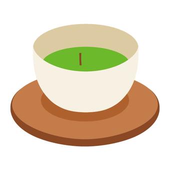Japanese tea with tea ceremony