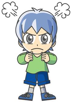 Boy illustration - Anger 3