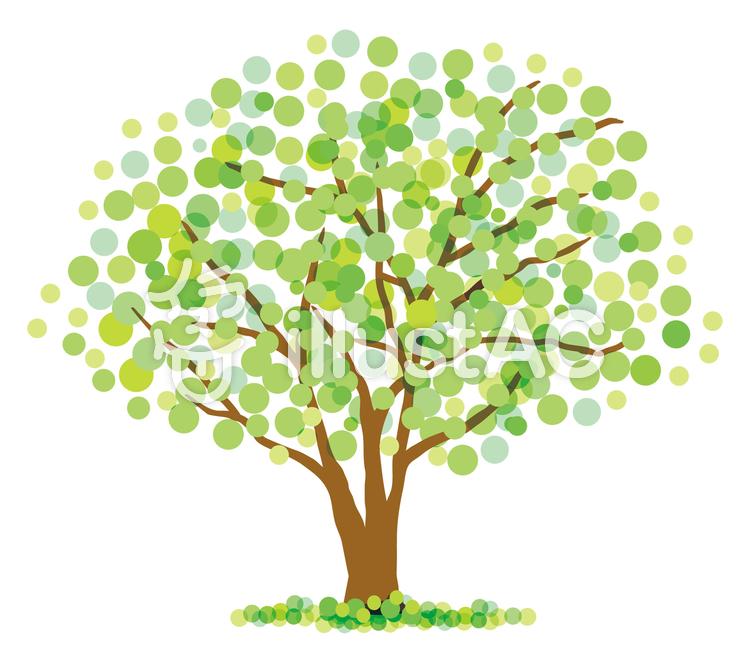緑の樹木のイラスト
