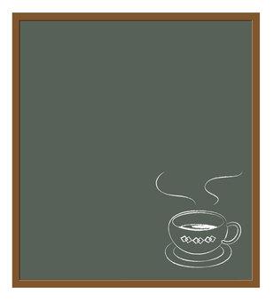 Cafe-style blackboard (coffee cup)