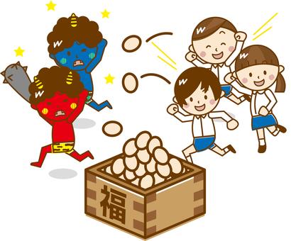 Children who do bean-powdering _ A54 【Pastel】