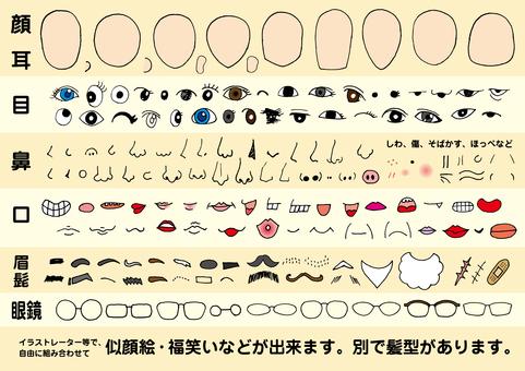 Facial parts