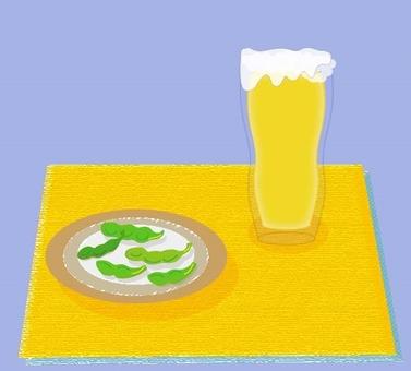 Beer and Edamame - Blue series