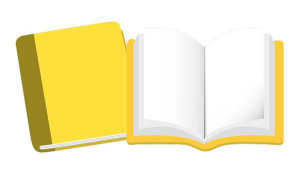 Book icon yellow