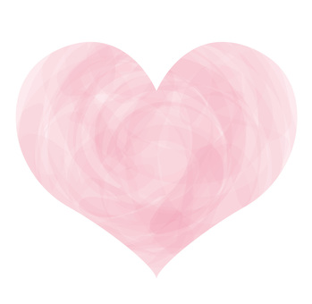 Handwritten watercolor Pink Heart icon Symbol picture