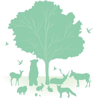 Forest animals Silhouette