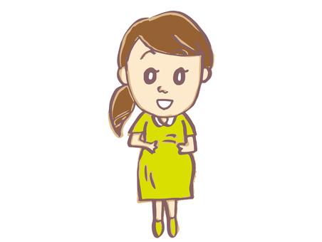 Pregnant woman 1-3