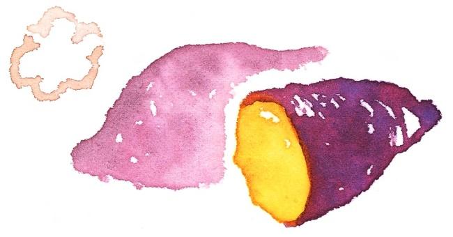 Watercolor baked potato