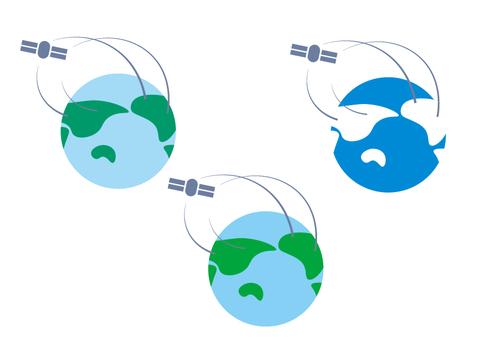 地球和衛星
