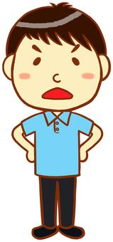 "Polo shirt man (anger) ""light blue"""