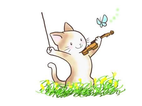 バイオリンねこ45
