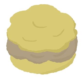 Cream puff with lots of chocolate cream