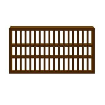 Wooden grating window