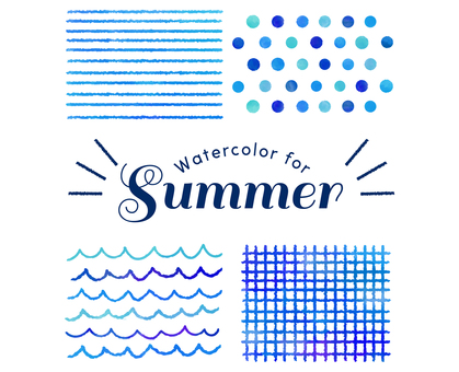 Summer Watercolor Texture Blue