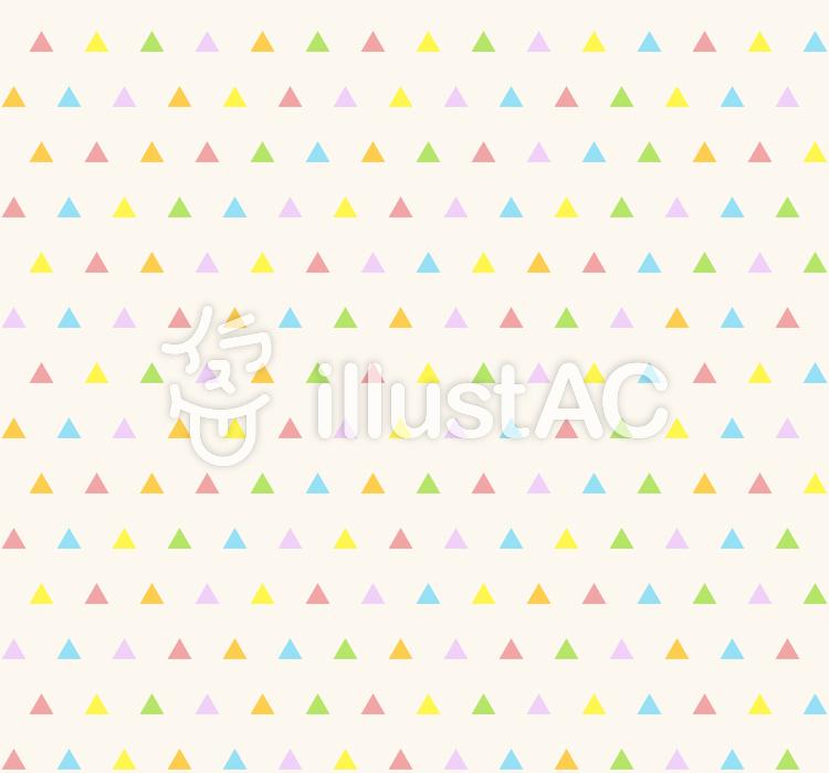 カラフルパターン - 三角Sのイラスト