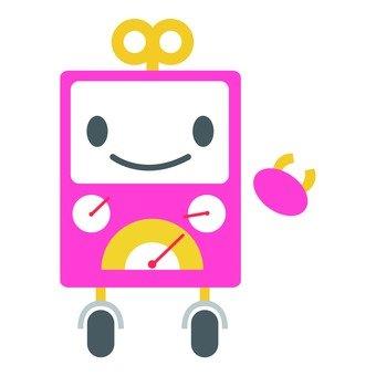 Pink box robot