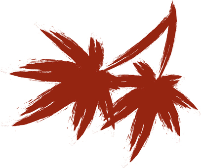 Two brushed maple leaves