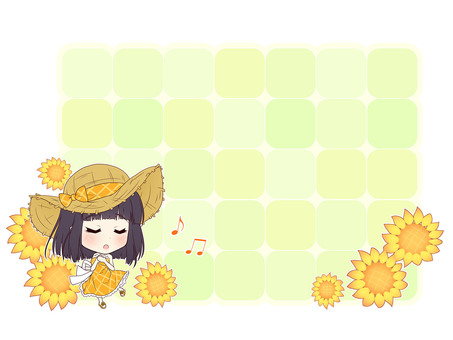 Summer Girl Re_C (Message Card)