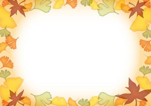 Autumn decorative frame · Beige