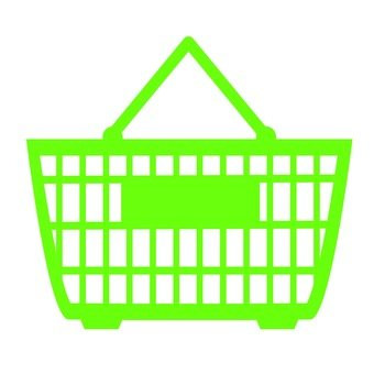 Shopping cart (green)
