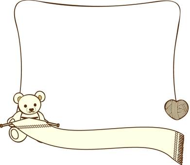 Teddy bear and knitting